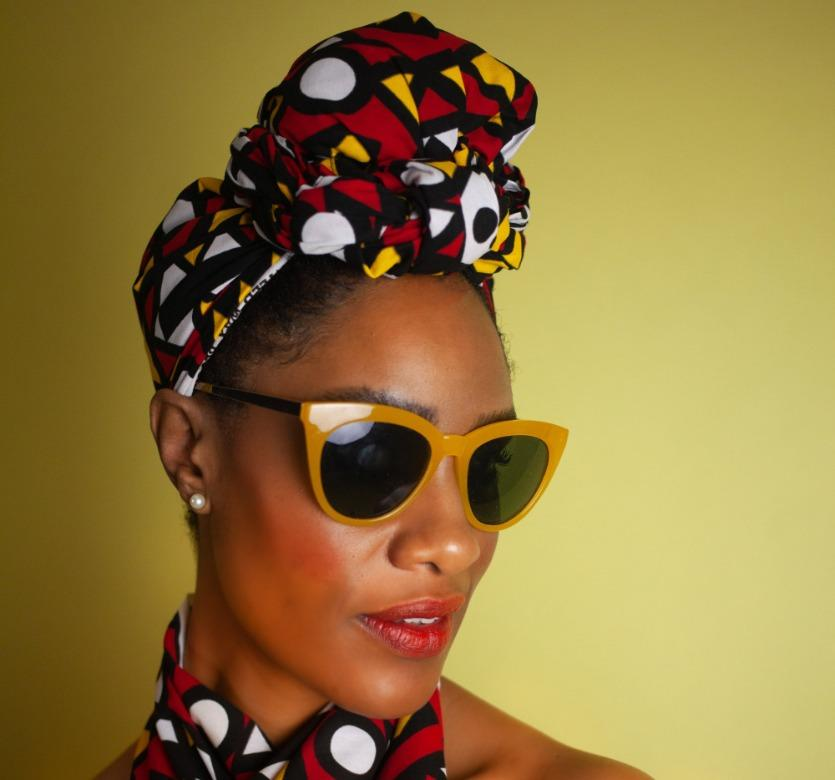 African Headwrap In Electric Red