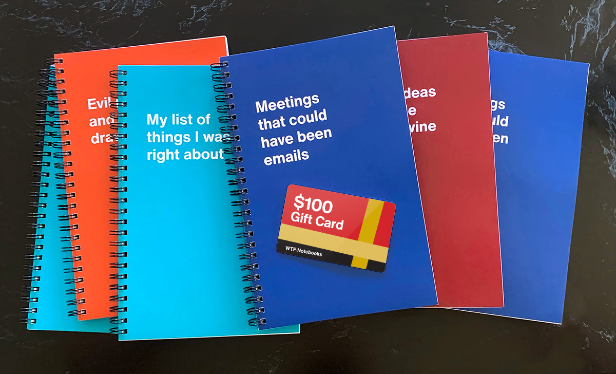 Win a $100 Gift Card from WTF Notebooks
