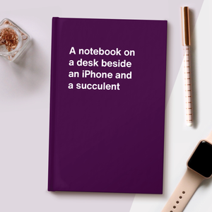 Load image into Gallery viewer, A notebook on a desk beside an iPhone and a succulent