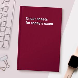 Cheat sheets for today's exam
