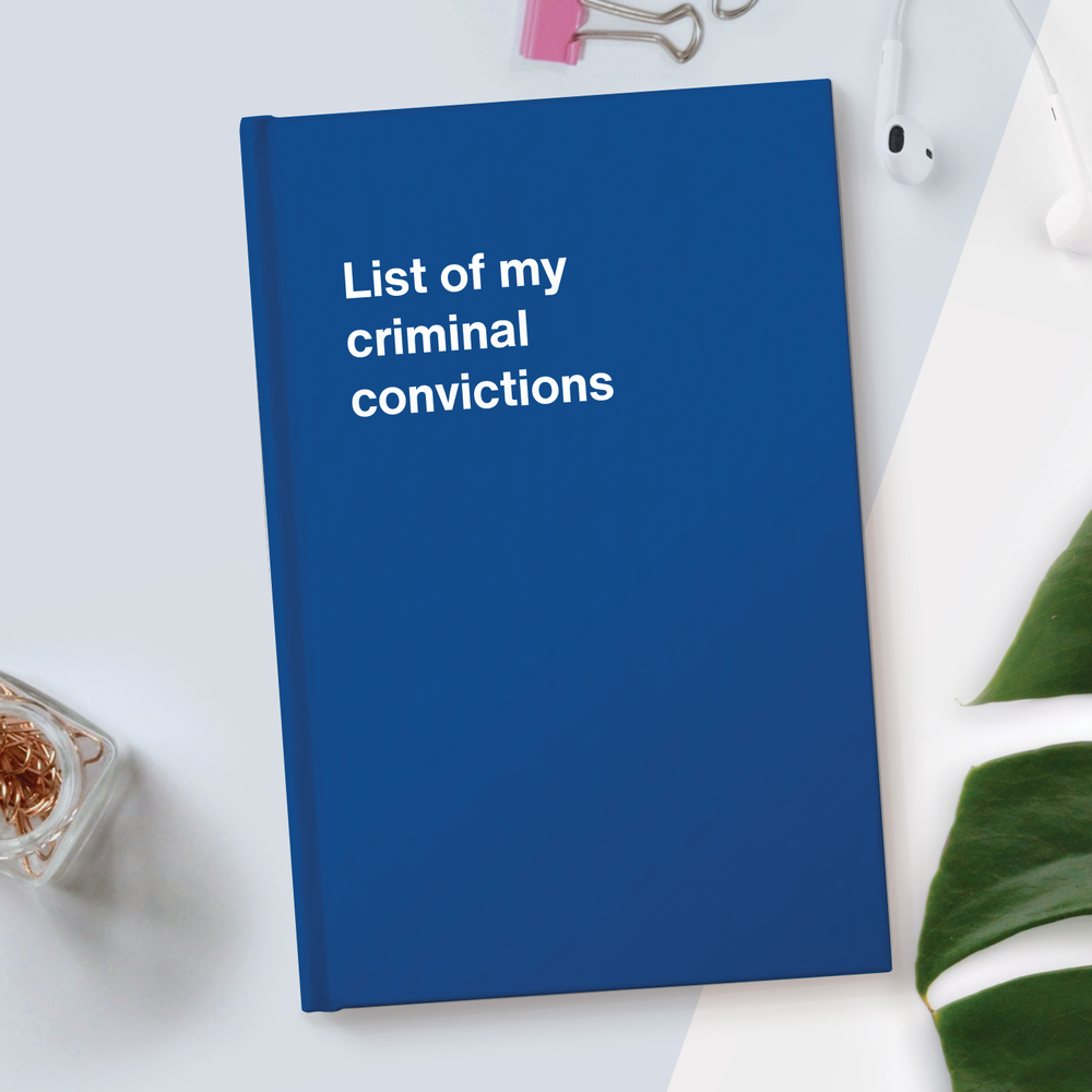 List of my criminal convictions