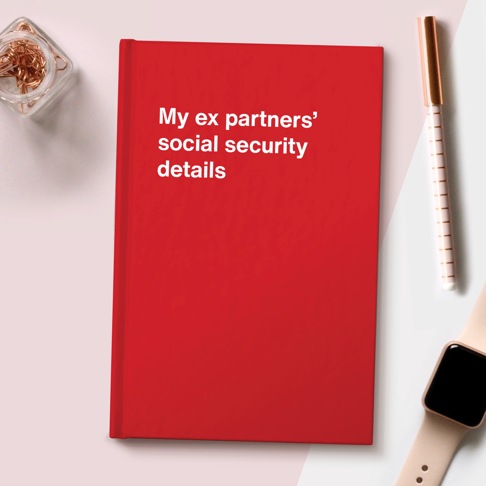 My ex partners' social security details