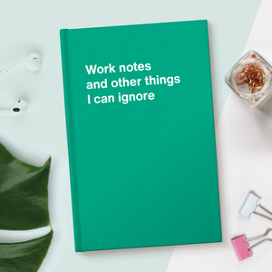 WTF Notebooks | Work notes and other things I can ignore