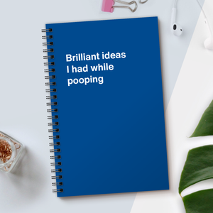 WTF Notebooks | Brilliant ideas I had while pooping
