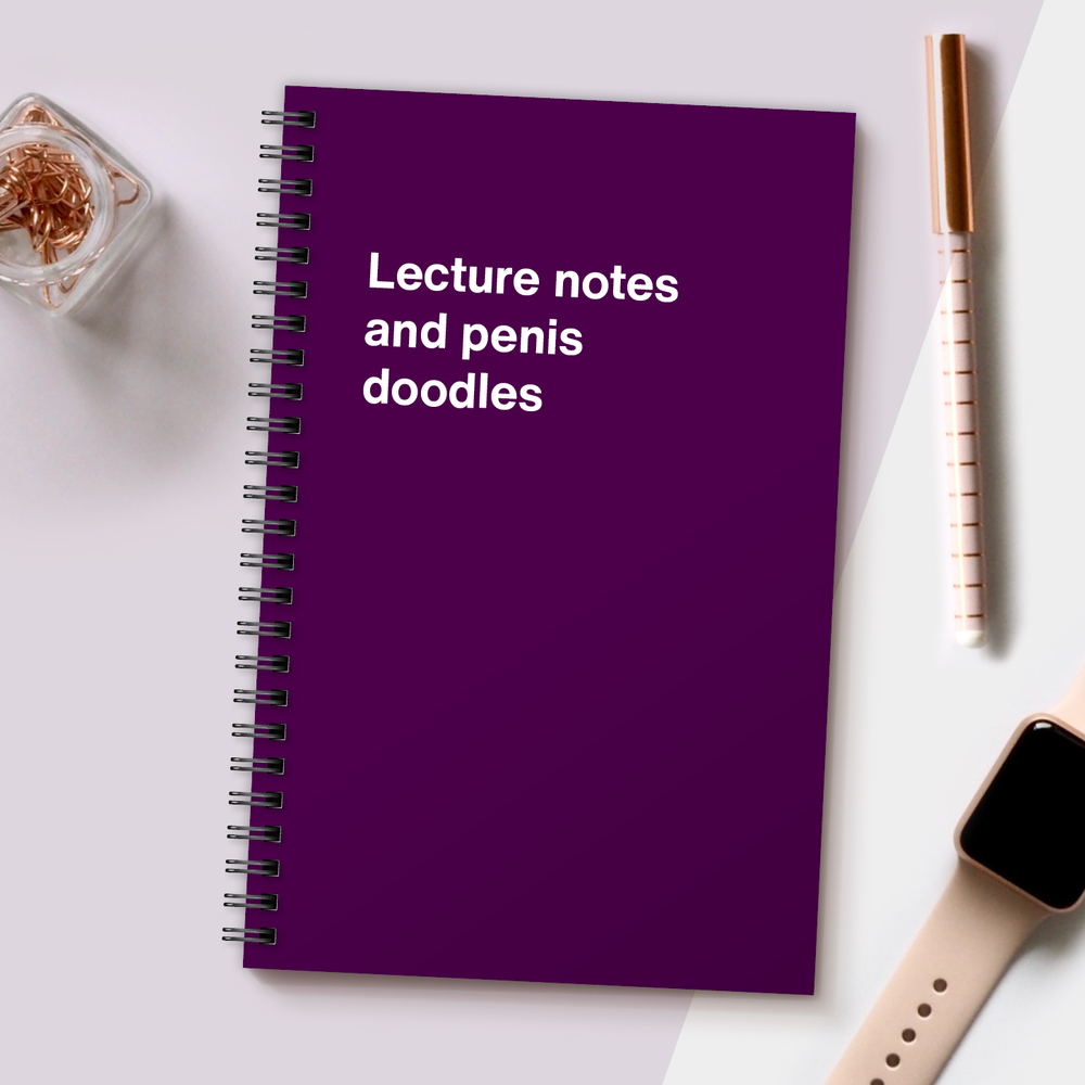 WTF Notebooks | Lecture notes and penis doodles