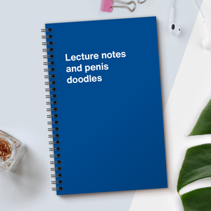 Load image into Gallery viewer, WTF Notebooks | Lecture notes and penis doodles
