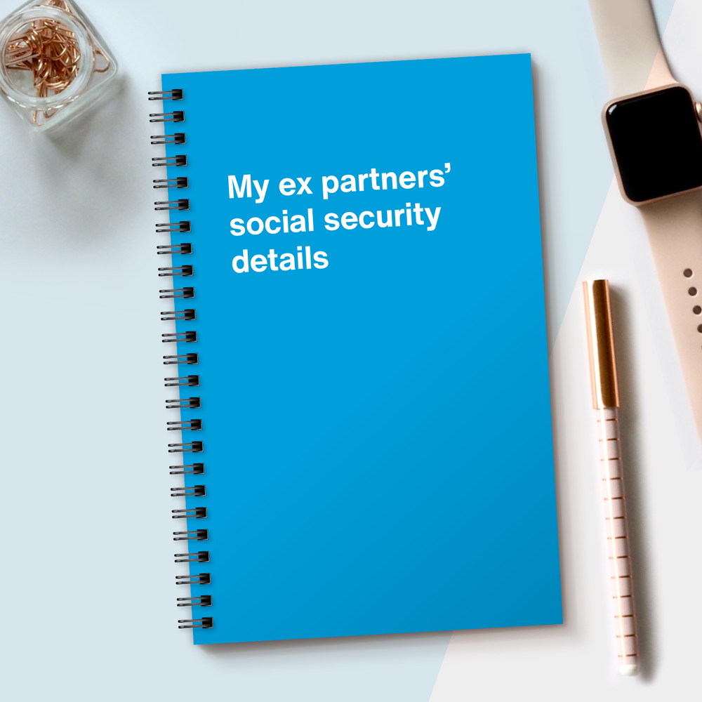 Load image into Gallery viewer, WTF Notebooks | My ex partners' social security details
