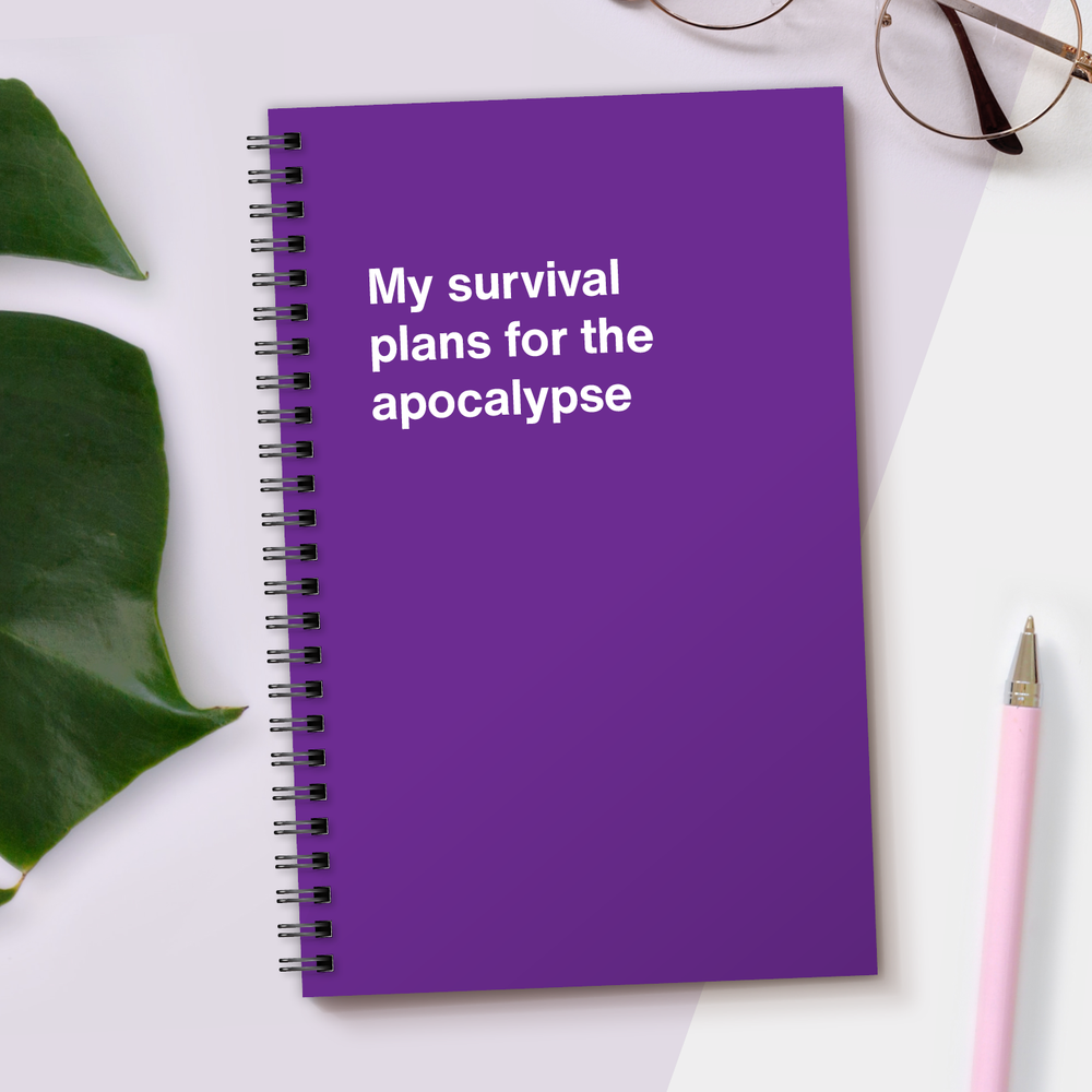 Load image into Gallery viewer, WTF Notebooks | My survival plans for the apocalypse