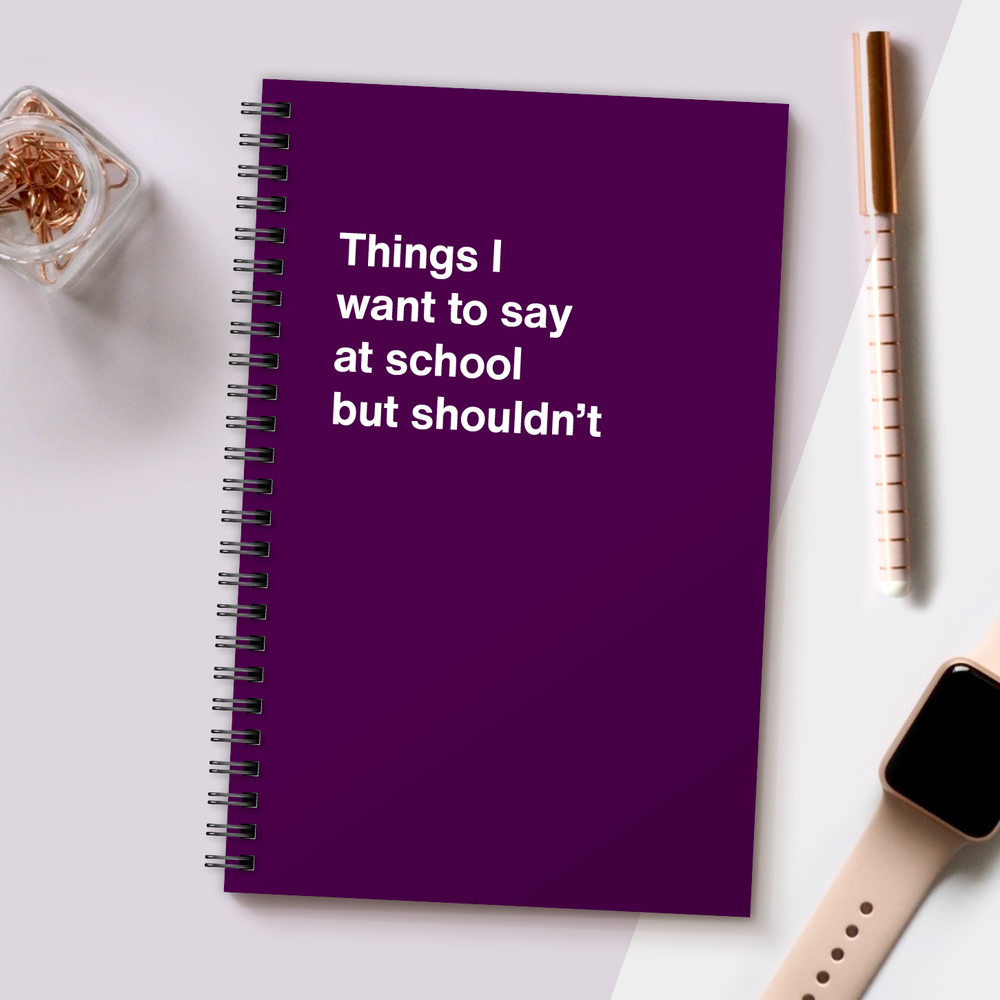 Load image into Gallery viewer, WTF Notebooks | Things I want to say at school but shouldn't