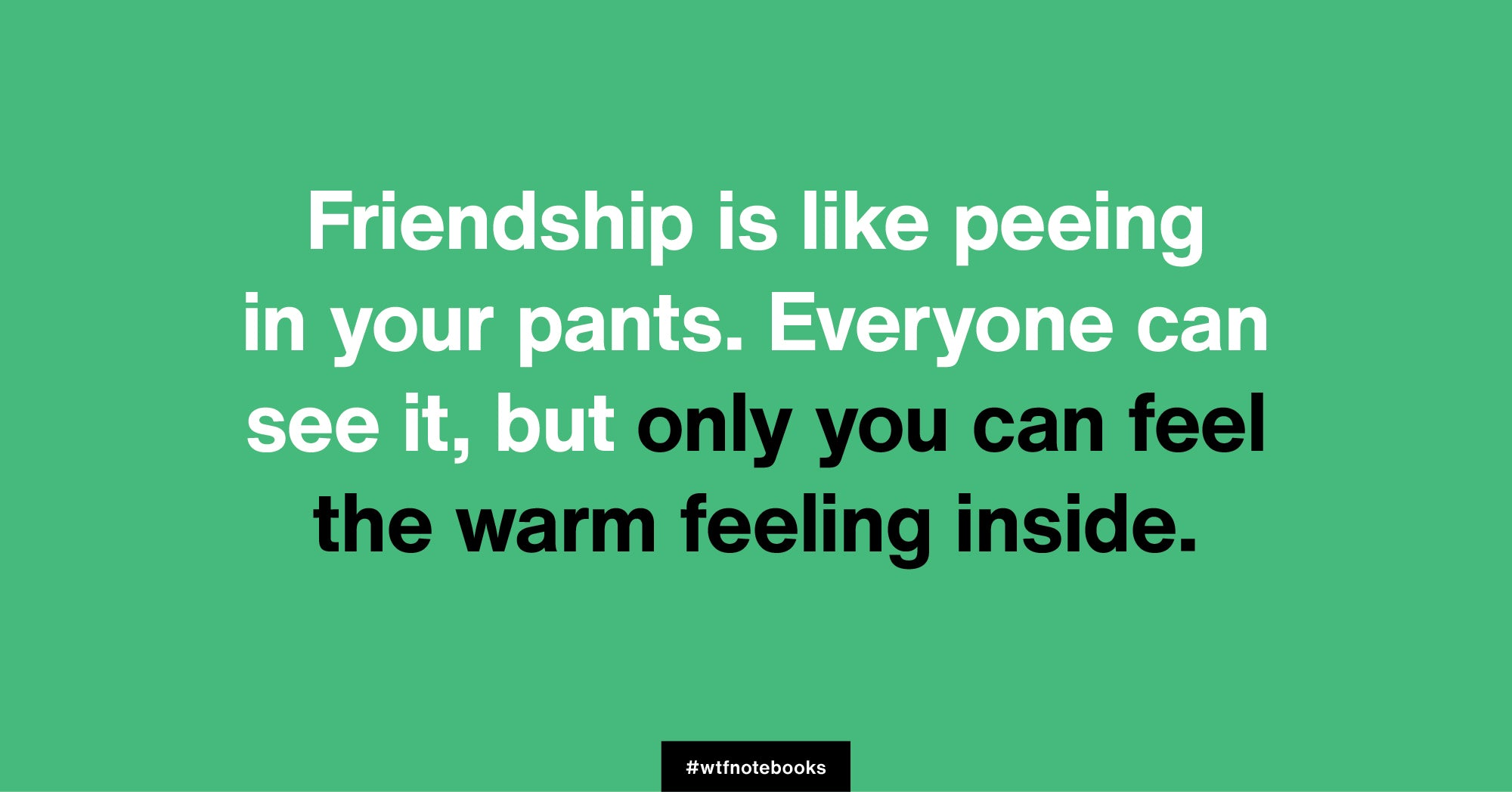 WTF Notebooks funny friendship title: Pee