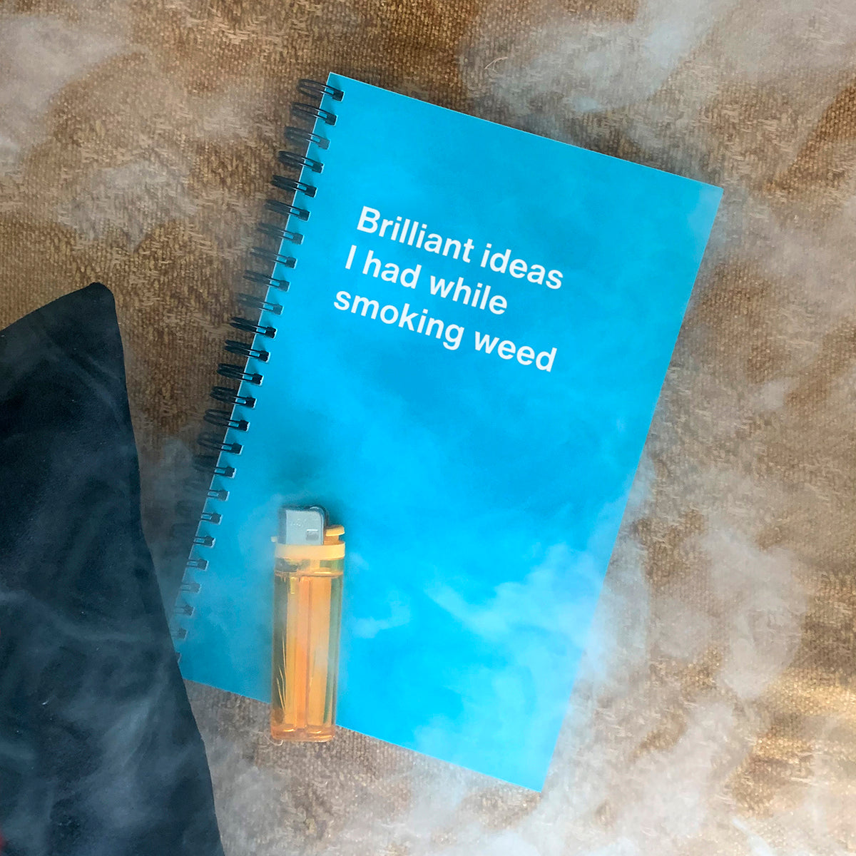 Brilliant ideas I had while smoking weed notebook