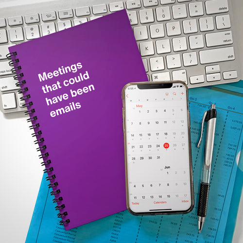 WTF Notebooks: Meetings that could have been emails, funny work stationery