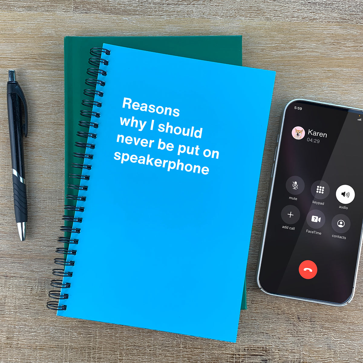 Reasons why I should never be put on speakerphone funny book
