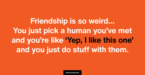 WTF Notebooks funny friendship title: Weird