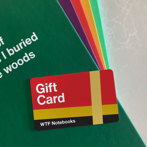 WTF Notebooks gift card