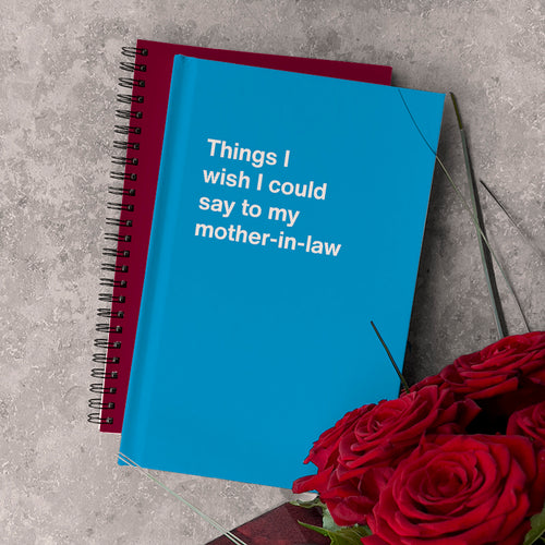 WTF Notebooks: Things I wish I could say to my mother-in-law