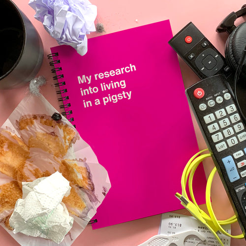 WTF Notebooks: My research into living in a pigsty