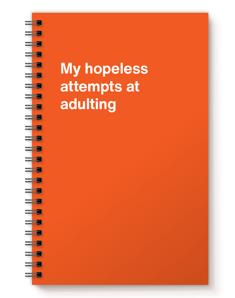 My hopeless attempts at adulting   Hilarious gift idea