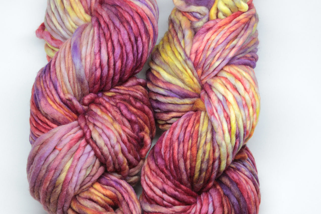 Archangel: A vibrant multi colour yellow, red and purple. This colour varies significantly between batches.