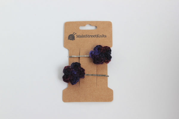 Tiny Handmade Flower Hairpins (Snap Clips)