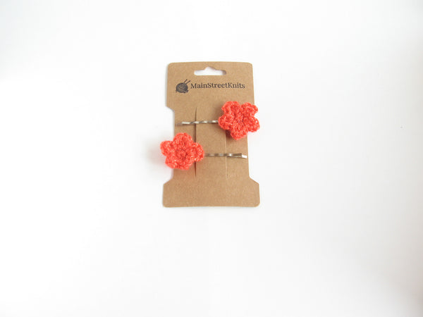 Tiny Handmade Flower Hairpins (Bobby Pins)