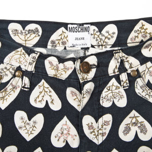 Moschino Jeans White Heart - Amsterdam Vintage Clothing