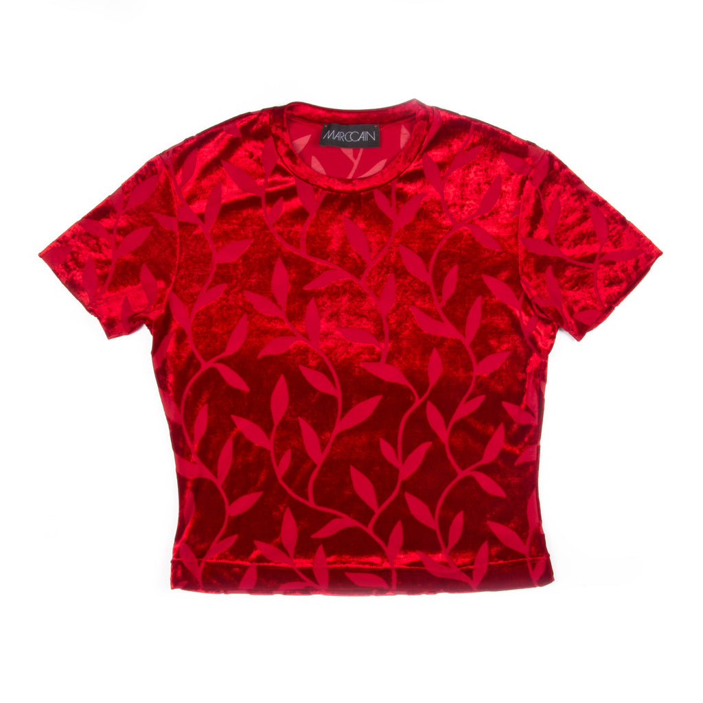 Marc Cain Top Red Flower