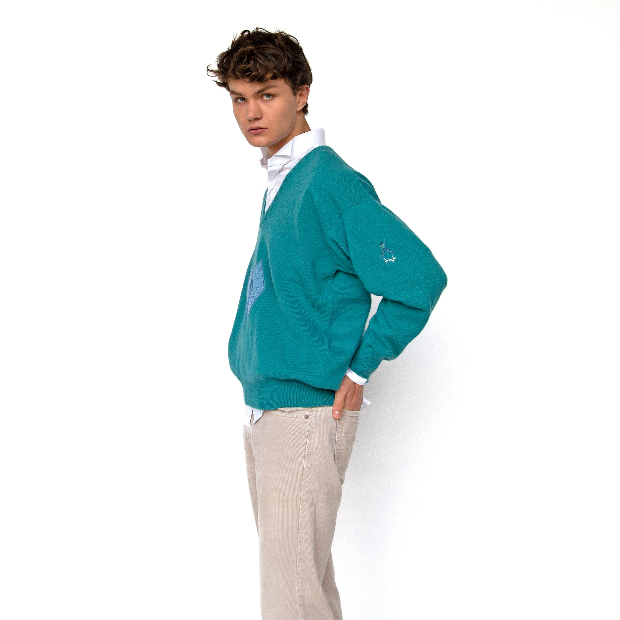"Pringle Mint ""Golf"" Sweater"