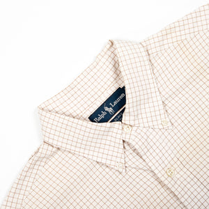 Ralph Lauren Shirt Taupe/Taupe Checkered