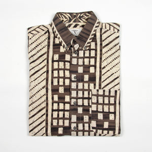 Valentino Shirt Brown White - Amsterdam Vintage Clothing