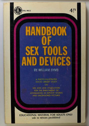HANDBOOK OF SEX TOOLS AND DEVICES COVER