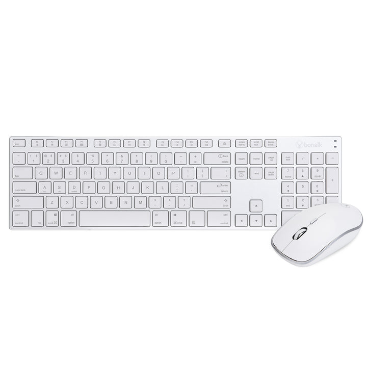 Bonelk Aluminium Bluetooth Keyboard and Mouse Combo, Full Size, KM-517A