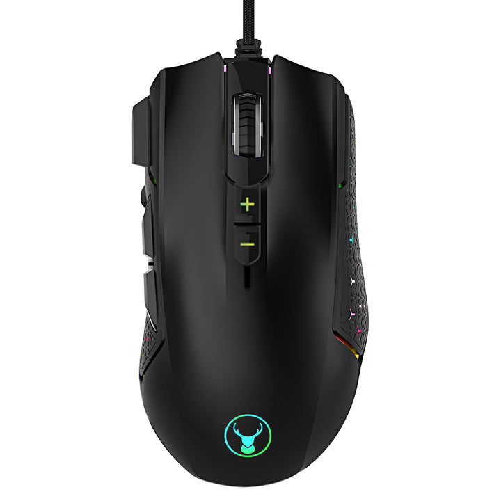 Bonelk Gaming RGB 8D Mouse, USB, 1200 to 7200 DPI, X-814 - Black