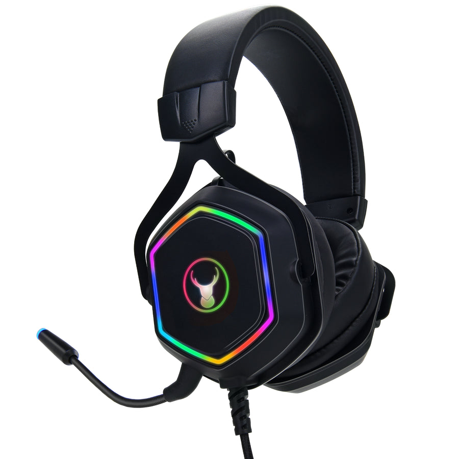 Bonelk Gaming RGB Headphones, Premium, 3.5mm, GH-717 - Black