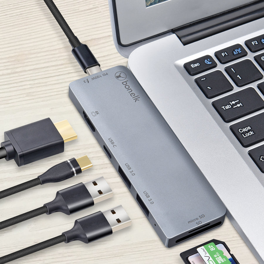 Bonelk 7in2 USB-C Multiport Hub - Space Grey