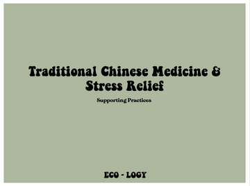 Introduction to TCM Practices for Stress Relief