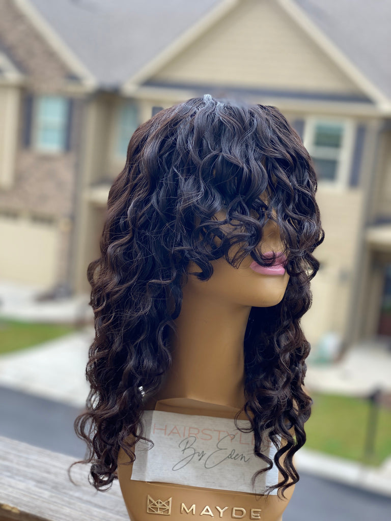 Curly Wig with Bang! - Hairstyles by Eden