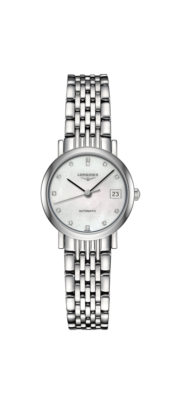 Longines L4.309.4.87.6 Elegant collection naisten rannekello - Longines - Laatukoru