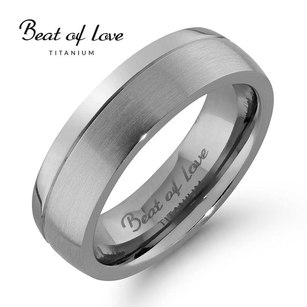 Beat of Love, titaanisormus 6 mm