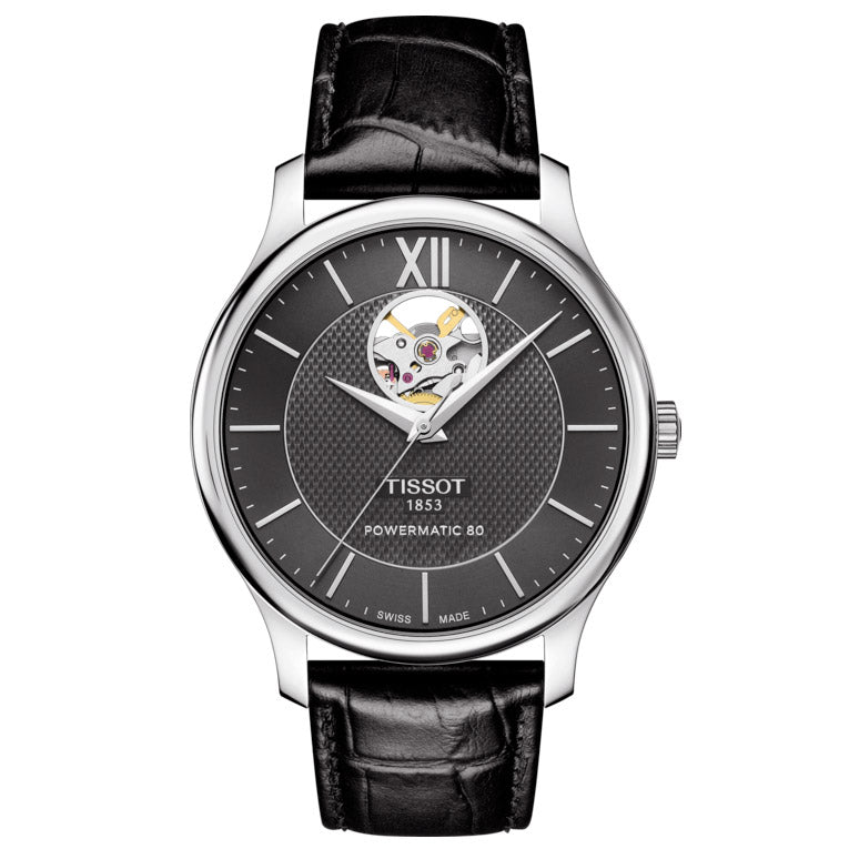 Tissot Tradition Powermatic 80 Open Heart, miesten rannekello - Tissot - Laatukoru