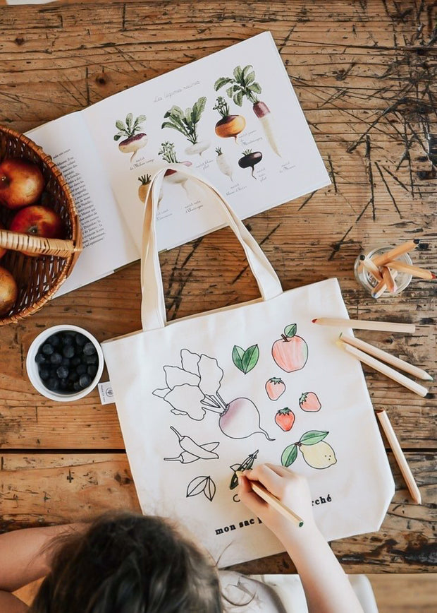 Colour-Your-Own Reusable Grocery Bag