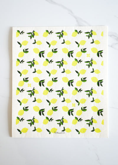 Swedish Sponge Cloth Mat - Lemon - Lg