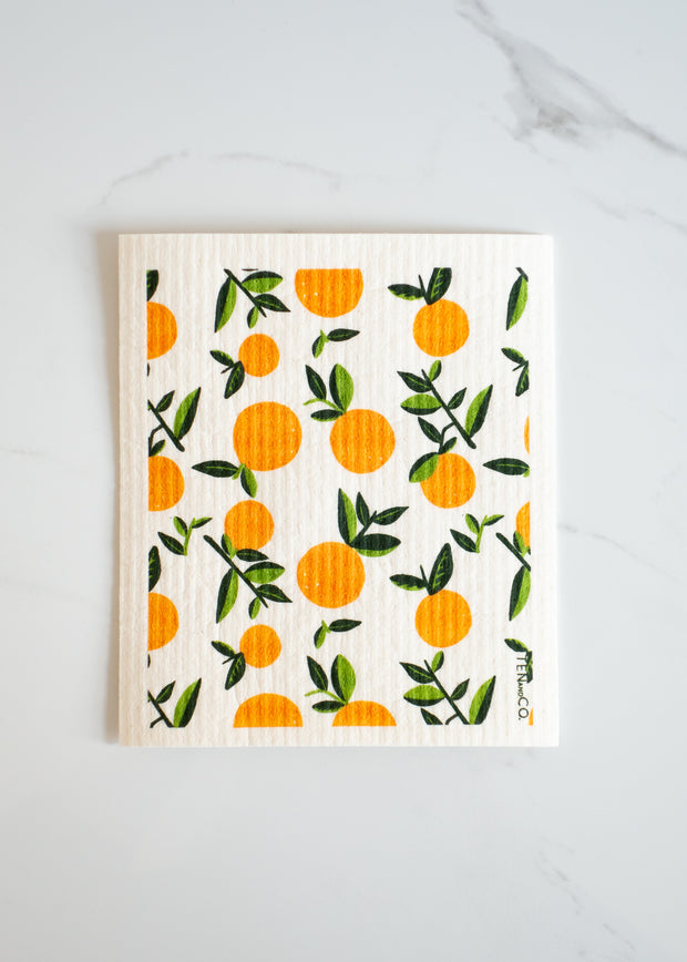Swedish Sponge Cloth - Orange