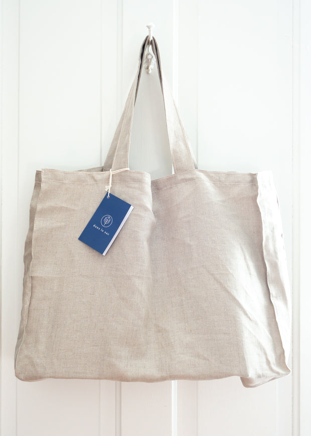 Large Linen Bag - Beige