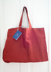 Large Linen Bag - Cinnamon