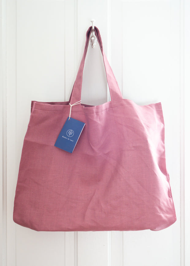 Large Linen Bag - Old Rose