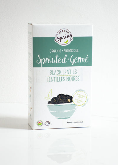 Organic Sprouted Black Lentils