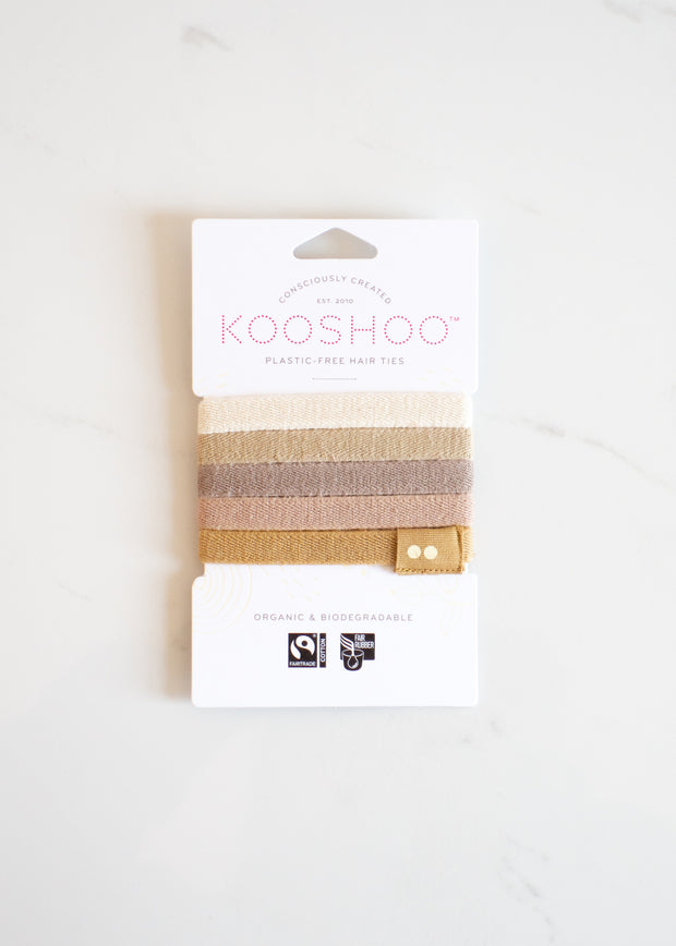 KOOSHOO Organic Hair Ties - Blonde