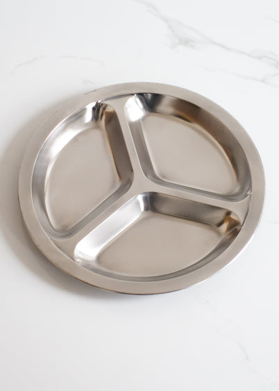 Stainless Steel Round Divided Plate