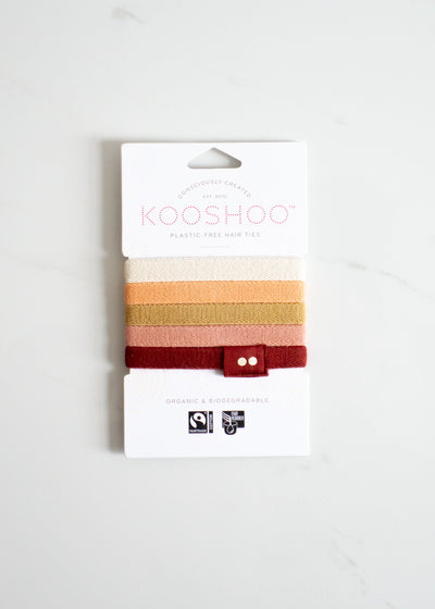 KOOSHOO Organic Hair Ties - Ginger
